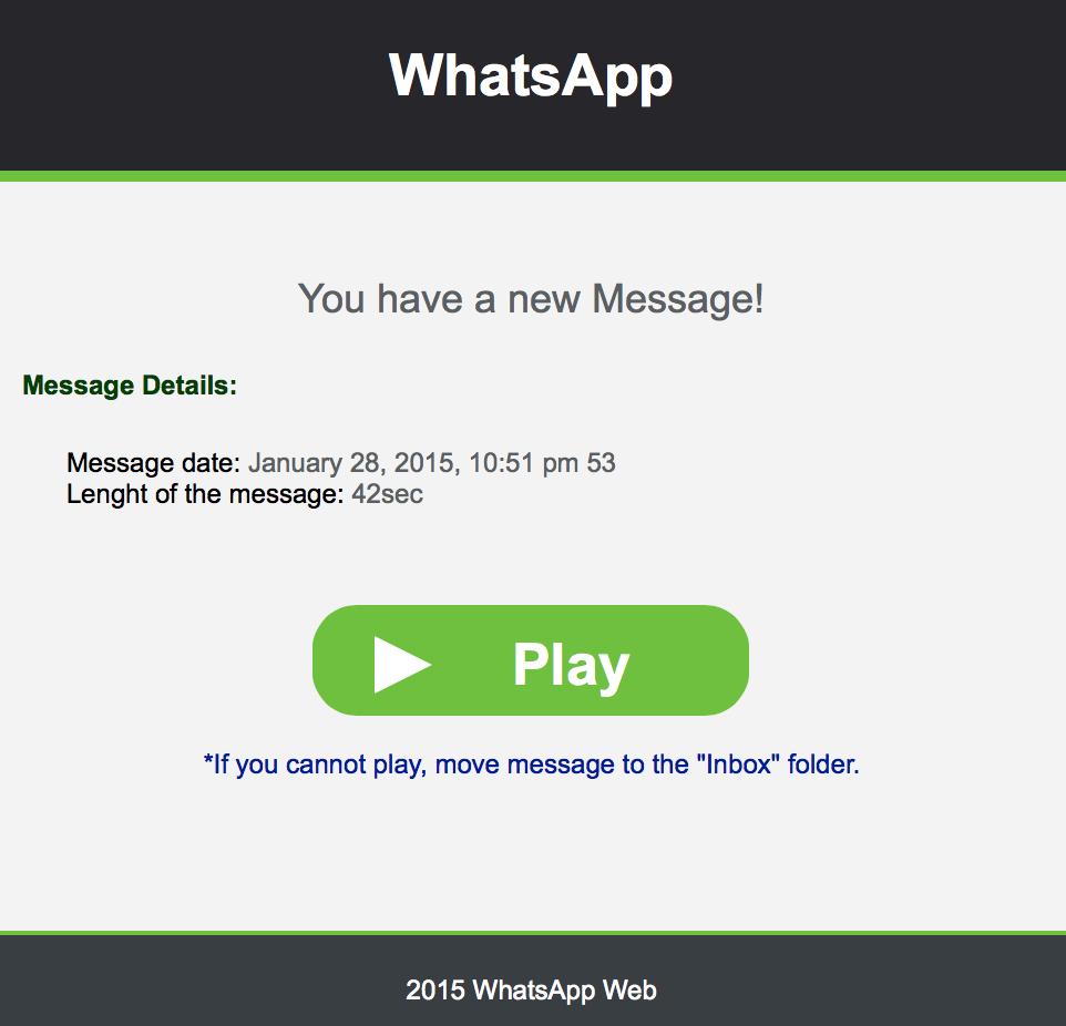Voicemail Whatsapp